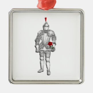 Knight Before Christmas Metal Ornament