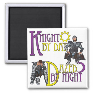 Knight by Day 2 Inch Square Magnet