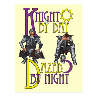 Knight by Day Postcard