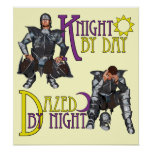 Knight by Day Print