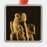 Knight chess piece metal ornament