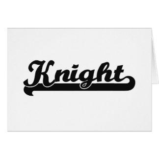 Knight Classic Job Design Greeting Card