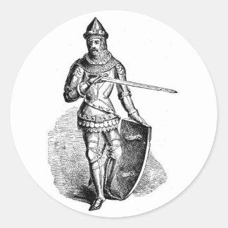 Knight Classic Round Sticker