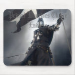 Knight Conquer Flag Mouse Pad