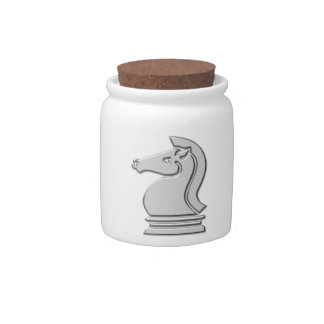 Knight Cool Metallic Chess Piece Candy Jars