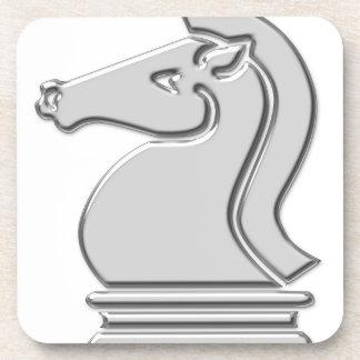 Knight Cool Metallic Chess Piece Drink Coaster
