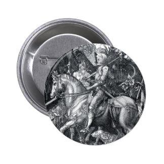 Knight, Death and the Devil - Albrecht Dürer Button
