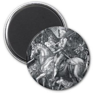 Knight, Death and the Devil - Albrecht Dürer 2 Inch Round Magnet