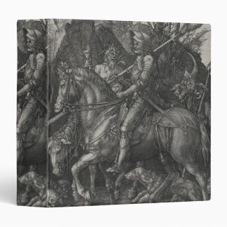 Knight, Death and the Devil by Albrecht Durer 3 Ring Binder