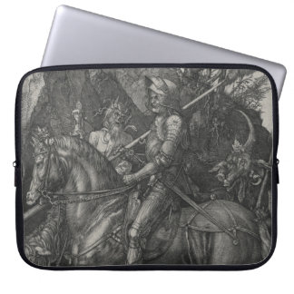 Knight, Death and the Devil by Albrecht Durer Laptop Sleeve