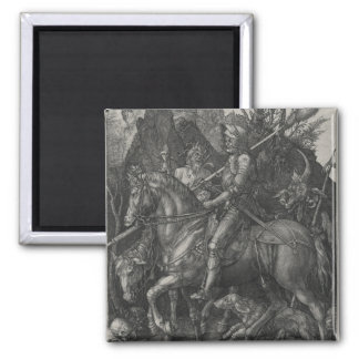 Knight, Death and the Devil by Albrecht Durer 2 Inch Square Magnet