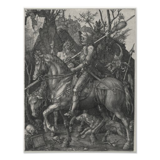 Knight, Death and the Devil by Albrecht Durer Photo