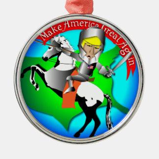 Knight Donald Trump Metal Ornament