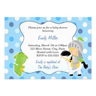 Knight Dragon Baby Shower Invitation