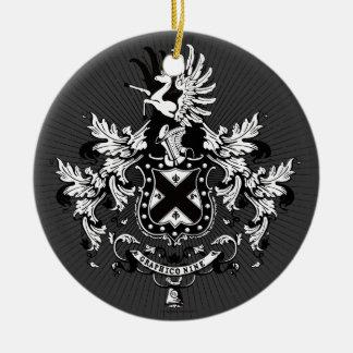 Knight emblem ceramic ornament