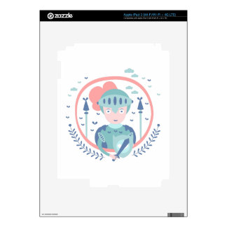 Knight Fairy Tale Character Decal For iPad 3