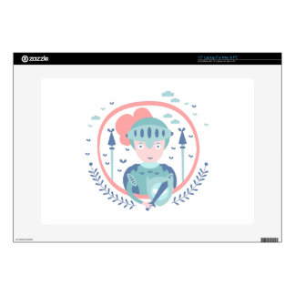 Knight Fairy Tale Character Decal For Laptop