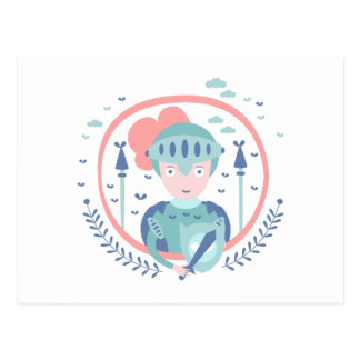 Knight Fairy Tale Character Postcard