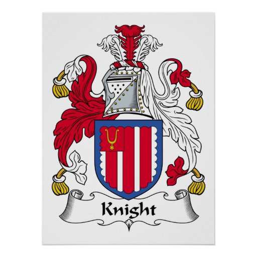 Knight Family Crest Poster