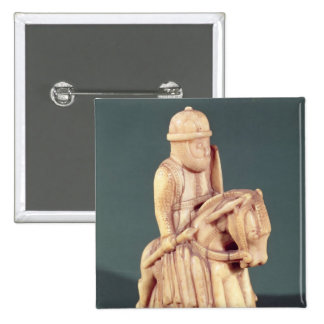 Knight from a chess set 2 inch square button