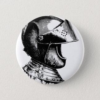Knight Helmet Pinback Button