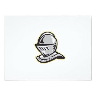 Knight Helmet Woodcut Card