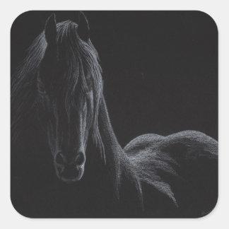 Knight Horse Collection Square Sticker