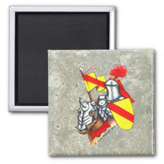 Knight Horse Faux Stone 2 Inch Square Magnet