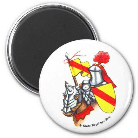 Knight Horse Shield Banner Art Magnet