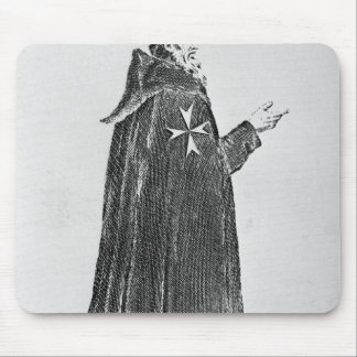 Knight Hospitaller in the original habit Mouse Pad