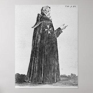 Knight Hospitaller in the original habit Poster