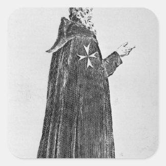 Knight Hospitaller in the original habit Square Sticker