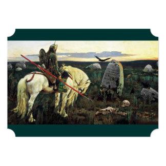 Knight in Armor at Crossroads 5x7 Paper Invitation Card