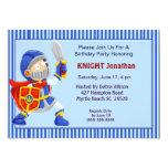 "Knight In Armor Birthday Invitation 5"" X 7"" Invitation Card"