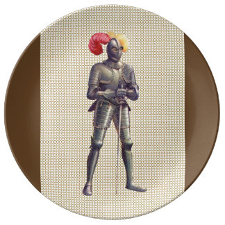 Knight In Armor Porcelain Plate