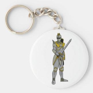 Knight in Armour Basic Round Button Keychain