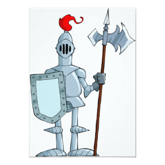 Knight In Armour Invitations