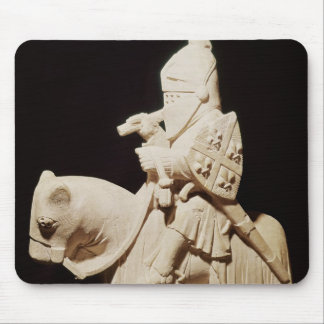 Knight in armour on his horse mouse pad