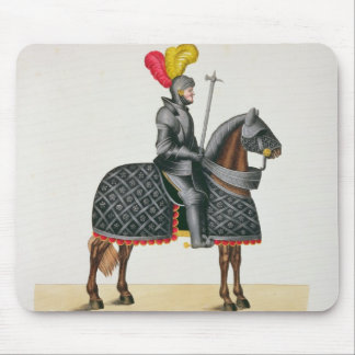 Knight in armour on his horse, plate from 'A Histo Mouse Pad