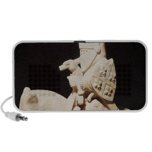 Knight in armour on his horse portable speakers