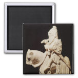 Knight in armour on his horse refrigerator magnet