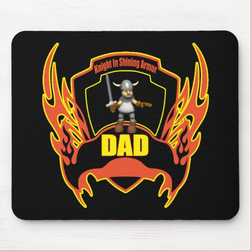 Knight In Armour T-shirts and Gifts For Dad Mouse Pad