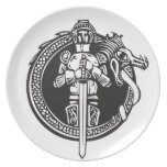 Knight in Dragon Circle Plate