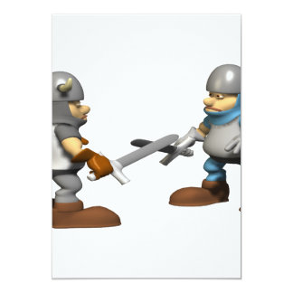 Knight in Fighting Armour Card