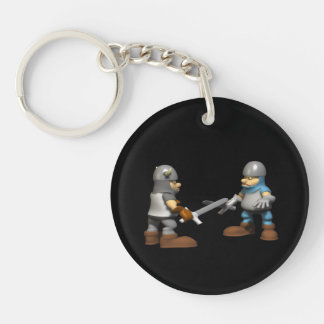 Knight In Fighting Armour Keychain