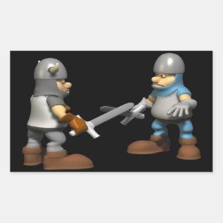 Knight in Fighting Armour Rectangular Sticker