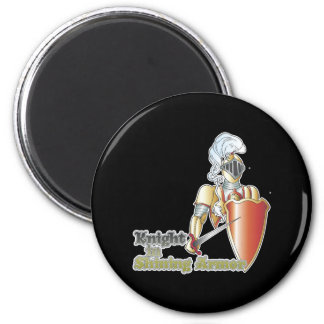 knight in shining armor 2 inch round magnet