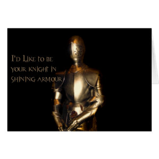Knight in Shining Armor Greeting Cards