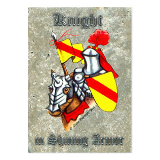 Knight in Shining Armor Large Business Card