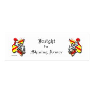 Knight in Shining Armor Mini Business Card